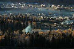 Scenery of Golden Autumn Stock Photo