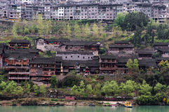 Scenery of Gongtan Ancient Town Royalty Free Stock Photos