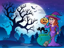 Scenery with Halloween character 1 Stock Photography