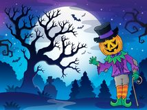 Scenery with Halloween character 2 Stock Photos