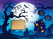 Scenery with Halloween thematics 3 Royalty Free Stock Photo