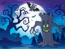Scenery with Halloween thematics 1 Royalty Free Stock Photos