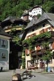 Scenery in Hallstatt. The scenic view from the square in Hallstatt - Austria Stock Photography