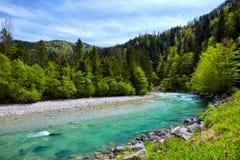 Scenery of high mountain Alps Stock Photos