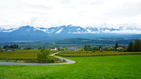 Scenery at hillside in Europe. Royalty Free Stock Images