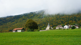 Scenery at hillside in Europe. Stock Photos