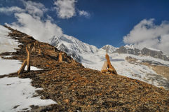 Scenery in Himalayas Stock Photo