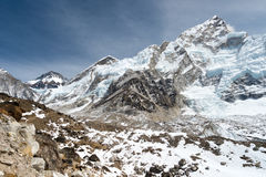 Scenery in the Himalayas on the way to Everest Base Camp Royalty Free Stock Photos