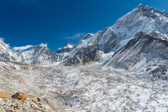 Scenery in the Himalayas on the way to Everest Base Camp Stock Image