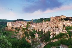 Scenery of historic city, a beautiful medieval town in Tuscany, Italy royalty free stock image