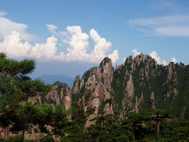 The scenery of Huangshan in China. And it is very beautiful place Royalty Free Stock Photography