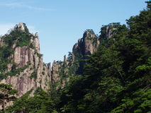 The scenery of Huangshan in China. And it is very beautiful palce. Many peoples go to here to travel Stock Photos