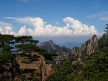 The scenery of Huangshan in China. And it is very beautiful palce. Many peoples go to here to travel Royalty Free Stock Image