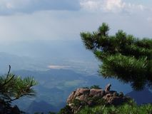 The scenery of Huangshan in China stock photography