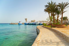 Scenery of Hurghada Marina Stock Photos