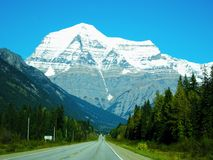 Scenery at the Icefields Parkway in the Rocky Mountains in Canada. Beautiful Scenery at the Icefields Parkway in the Rocky Mountains in Canada stock photography