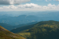 Scenery of incredible Ukrainian Carpathian mountain. In summer time stock images