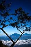 Scenery from Indonesia mountain Stock Image