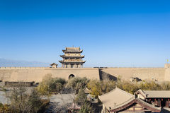 Scenery of Jiayuguan Castle Royalty Free Stock Photography
