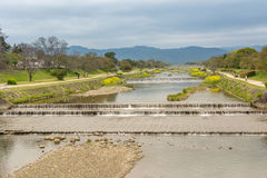 Scenery of Kamo River Stock Photos