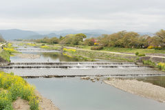 Scenery of Kamogawa Stock Photo