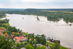 Scenery of Kazimierz Dolny at Vistula river Stock Photos