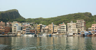Scenery of Keelung port in daytime Stock Image