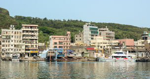 Scenery of Keelung port in daytime Royalty Free Stock Photo