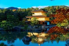 Scenery of Kinkaku-ji, a famous Zen Buddhist temple in Kyoto Japan Royalty Free Stock Photography