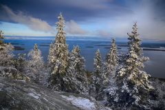 Scenery from Koli National Park in Finland, North Karelia Royalty Free Stock Images