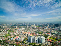 Scenery of Kuala Lumpur, Aerial View. With KLCC Royalty Free Stock Photos