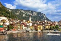 Scenery of Lago di Como - Varenna, Italy Royalty Free Stock Images