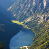 Scenery of lake in high mountain Royalty Free Stock Images