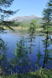Scenery of the lake and reflections of the mountains Royalty Free Stock Photo