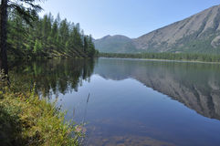 Scenery of the lake and reflections of the mountains Royalty Free Stock Photography
