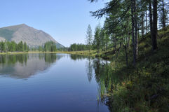 Scenery of lake and reflections of  mountains Royalty Free Stock Image