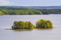 Idyllic lake scenery in Sweden Royalty Free Stock Image