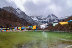 Scenery of lake in Yading, Sichuan. Scenery of lake in Yading, Sichuan, China Stock Photography