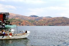 The scenery of Lakeside of Erhai Lake royalty free stock photos