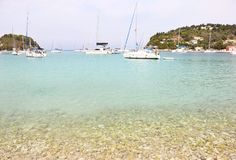 Scenery of Lakka village Paxos island Greece Stock Photo