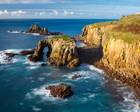 Scenery at Land End Cornwall England Royalty Free Stock Photo