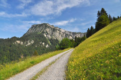 Scenery Landscape in the Alps Stock Photography