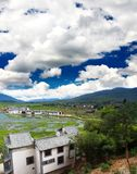 Scenery landscape near Lijiang City Royalty Free Stock Photo