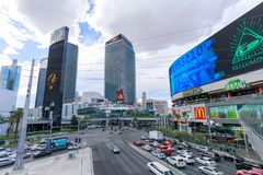 Scenery of Las Vegas Boulevard Royalty Free Stock Images