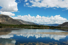 Scenery of the Lhasa river Royalty Free Stock Image