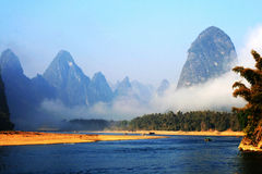 Scenery of the Lijiang River. It is Lijiang River in guangxi Province China royalty free stock images