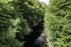 Scenery of linn of tummel from the trail Stock Images