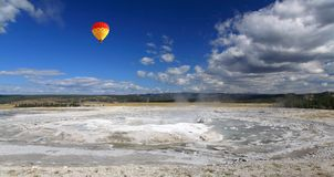 The scenery of Lower Geyser Basin in Yellowstone Royalty Free Stock Images