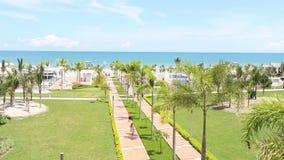 Scenery of luxury resort at RIU Hotel on August 28, 2014 in Playa Blanca, Panama stock video