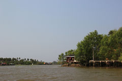 Scenery of Mae Klong River Royalty Free Stock Photos